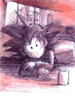 Goten Pen and Marker Sketch by Risachantag
