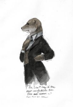 An Otter Dressed Up by Zethelius