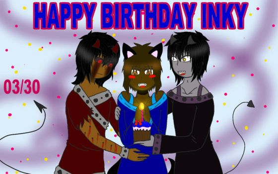 happy birthday inky! (me as a guy) by Kitty-Channya