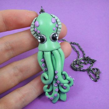 Newest Squid Necklace by beatblack