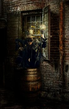 Steampunk Alley by kayceeus