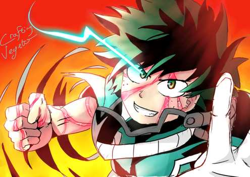 Midoriya Izuku - One for All Smash by CraftingVegeto