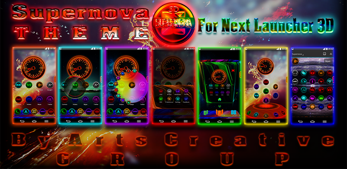 NEXT LAUNCHER 3D THEME SUPERNOVA 2Dn3D MODE v1.7 by ArtsCreativeGroup