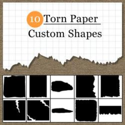 Torn Paper Custom Shapes by psdtips