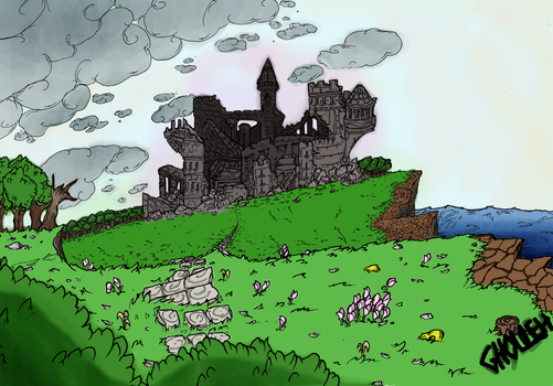 Calamity's Comission 06 - CdS Castle by Ghouleh
