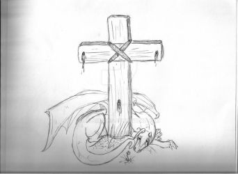 Even the Cross Cries by delbinfang