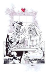 Invincible and Eve as ZOMBIES by RyanOttley