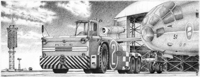 airport tow tractor by liquidforests