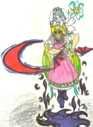 Lunamancer Tsuki using Dark Side Magic by Winter-Colorful