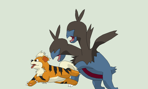 Pokemon Base 110~Zweilous and Growlithe~