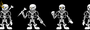 Disbelief Papyrus Custom Sprites by Nerveabhorrence