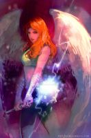 Hawkgirl by Haining-art