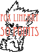 transparent fox lineart - 50 points by levitzky