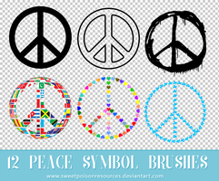 Peace Symbol Brushes - Photoshop by sweetpoisonresources