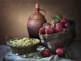Still life with red apples by Daykiney