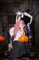 Halloween with Shin and Reira by Watarielle