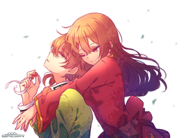 Haruko and Akito~ by Sweetmeloday