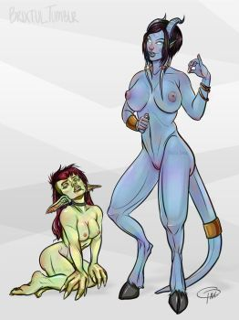 Draenei and Goblin Version 2 by MissTakArt