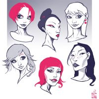 Some asian faces by ming85