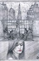 The Lonely Wolf's Blues Page1 pencils by santiagocomics