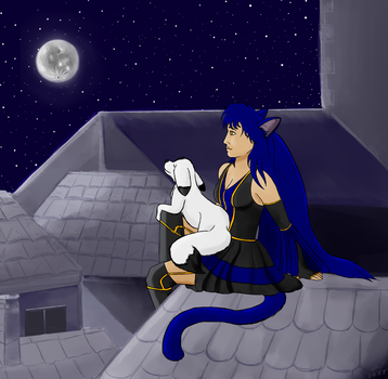 Luna - Arttrade for Lunaria-Nocturne by RocaTeithmore