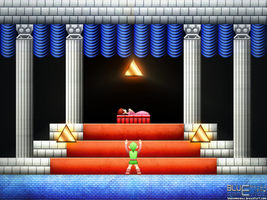 Zelda II: Triforce by BLUEamnesiac