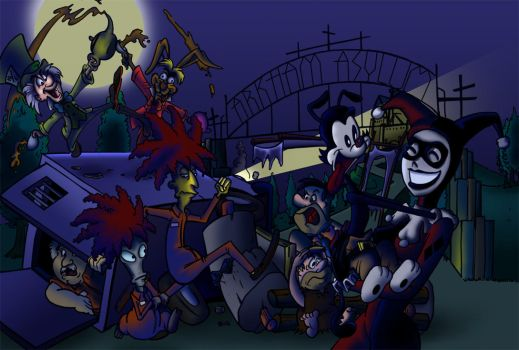 Toon Town Views - Arkham Ext by BoscoloAndrea