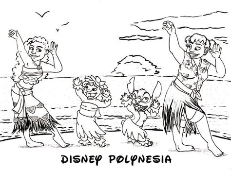 Disney Polynesia - coloring page by MountainLygon