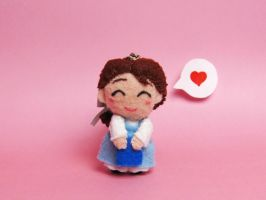 Belle keychain by tstelles