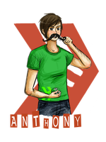 Smosh - Anthony with mustache by GothicShoujo