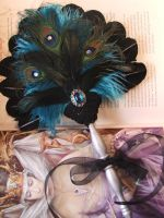 Turquoise and Black Fan by Gypsywrytr
