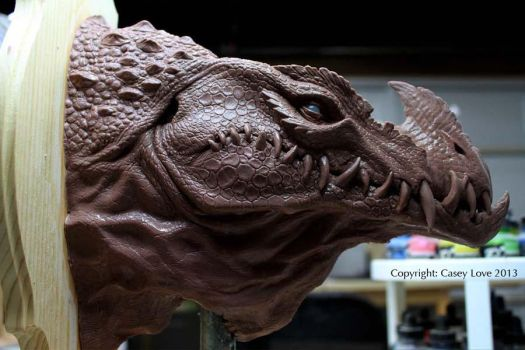 Dragon bust by Caseylovedesigns
