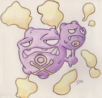 Weezing by Shabou