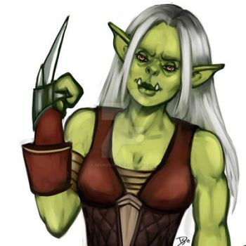 B-day gift: Orc female by Deesketches
