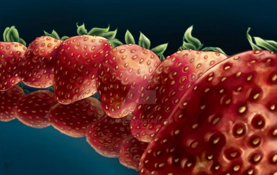 Strawberries by Aunril