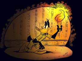 Daffy the Archaeologist by JuneDuck21