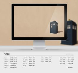 Wallpaper 88 Tardis by zpecter