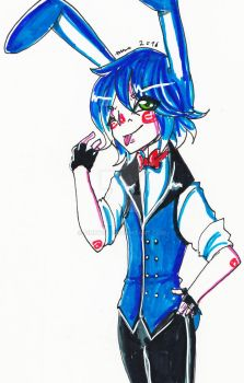 -Cheap Markers Challenge - Toy Bonnie Humanized by FinkYou