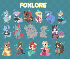 Foxlore Palooza - Auction - 3 to go! :3 by Pararipi