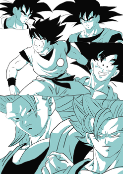Goku - another sketches by Acceo