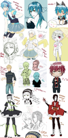 DRAMAtical Murder Art Dump by sugoya