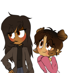 Misti and Tasnim by RoseTheKitty11