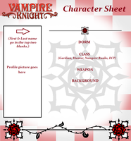 Vampire Knight Character Sheet (BLANK) by Twisted--Princess