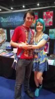 Me with Deviant Art's Destiny Blue [LMCME] by DoctorWhoOne