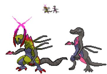 Salazzle+haxorus fusion by mechadarkmewtwo
