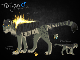 Taijan Ref Sheet by ReneahArt