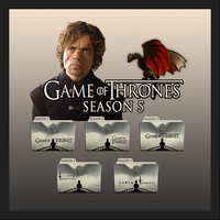 Game of Thrones folder icons: Season 5 by F0l13aD3ux