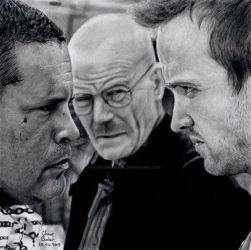 Breaking Bad drawing by Chrisbakerart