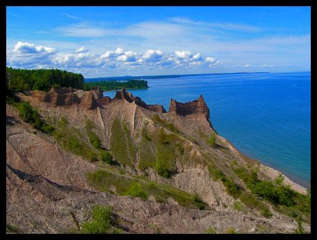 Chimney Bluffs 2 by infectiouskarma