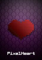 Pixel Heart Elegant Poster by capdevil13